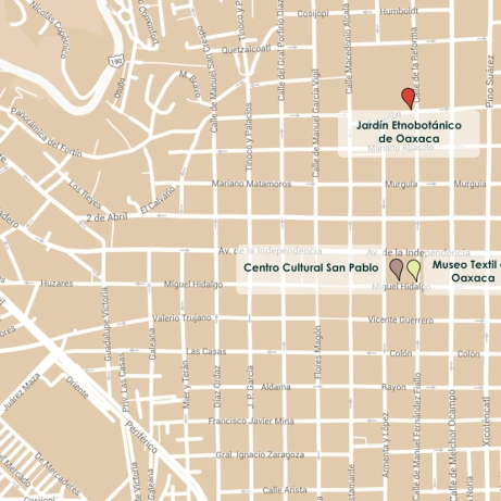 Map of Oaxaca City and 10 ISS Venues