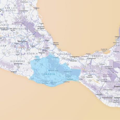 Map of Oaxaca