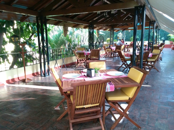 Photo of the upstairs balcony resturant at Oaxaca Real
